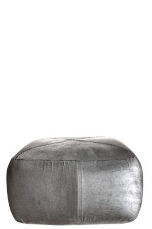 Silver Leather Pouf Building Our Home A Passion Pinterest Awesome Dosa Pouf