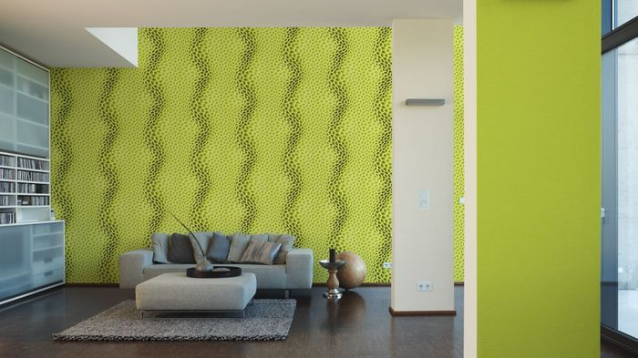 Livingwalls Unitapete Harmony in Motion by Mac Stopa Tapete grün 10 - wohnzimmer design grun