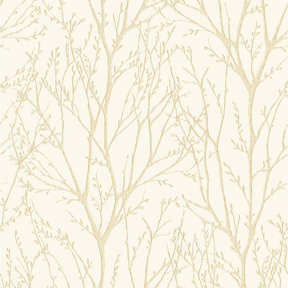 Fine decor delamere tree wallpaper cream fd31145 purple for Tree wallpaper for walls