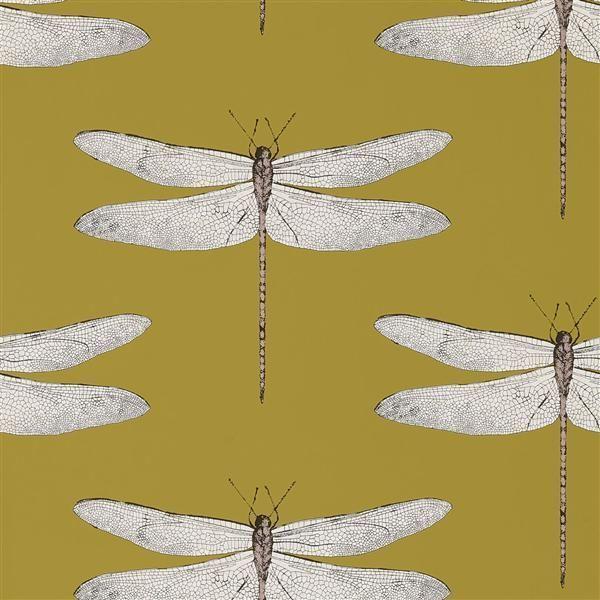 111244 Demoiselle Palmetto Dragonflies Harlequin Wallpaper Harlequin Wallpaper Dragonfly Wallpaper Wallpaper