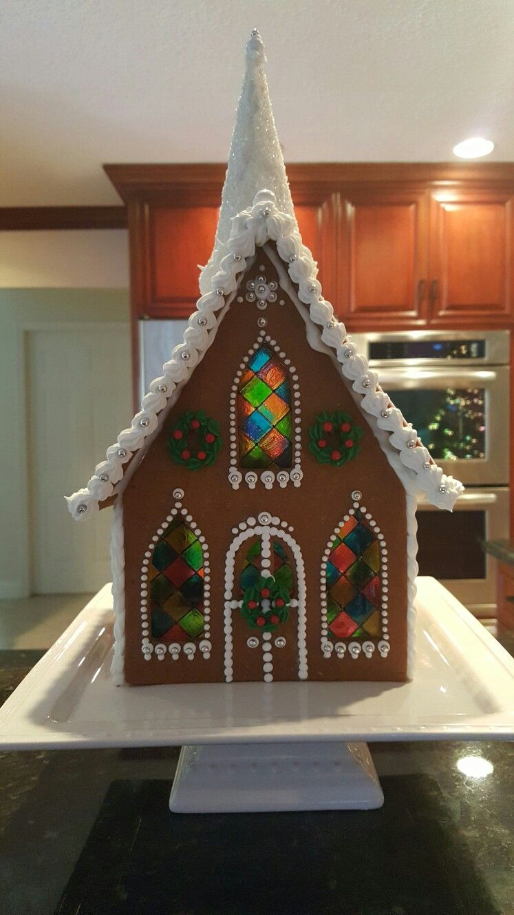 Gingerbread Church Stained Glass Windows