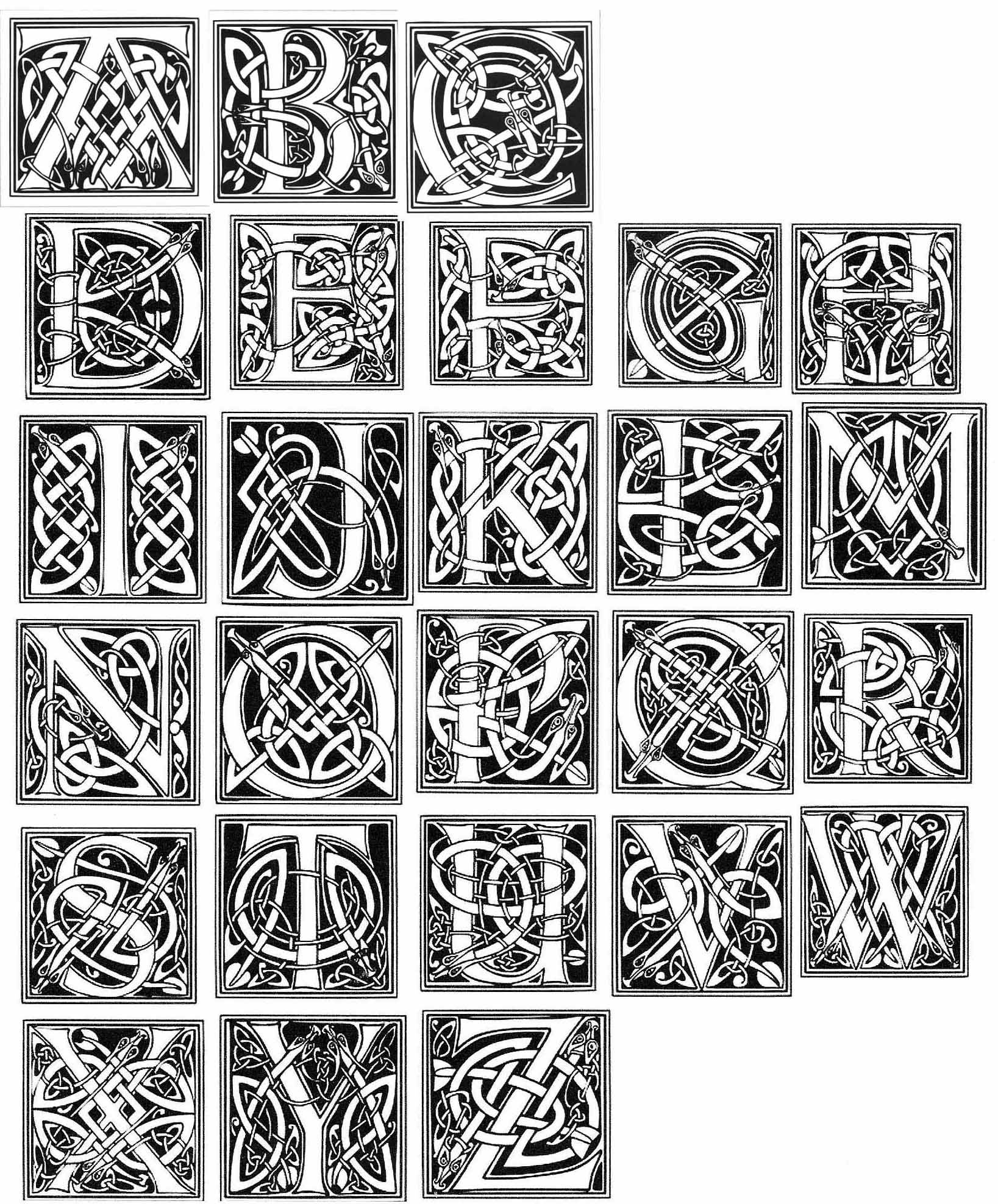 Celtic Letters … | Tattoo Fun | Celti…