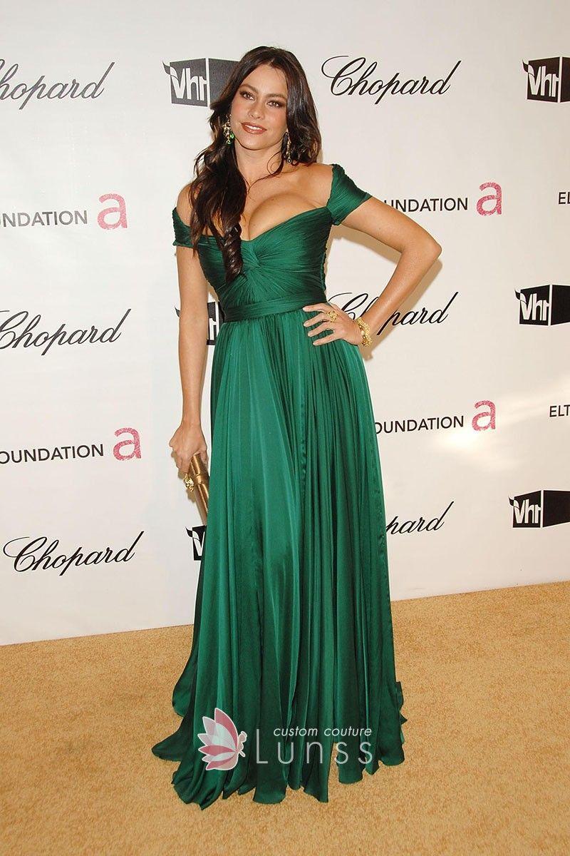 Sofia Vergara Off Shoulder Green Dress Oscar 2008 Celebrity Prom Dresses Green Prom Dress Celebrity Dresses [ 1200 x 800 Pixel ]