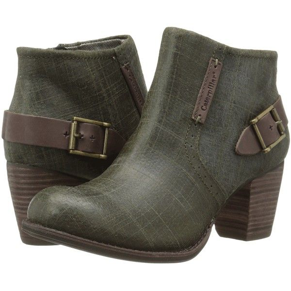 Caterpillar Casual Annette (Deep Olive) Women's Boots (5.400 RUB) ❤ liked on