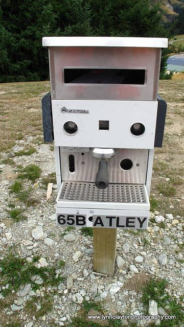 Coffee Machine died, don't put it in the tip reuse a letterbox. #letterbox