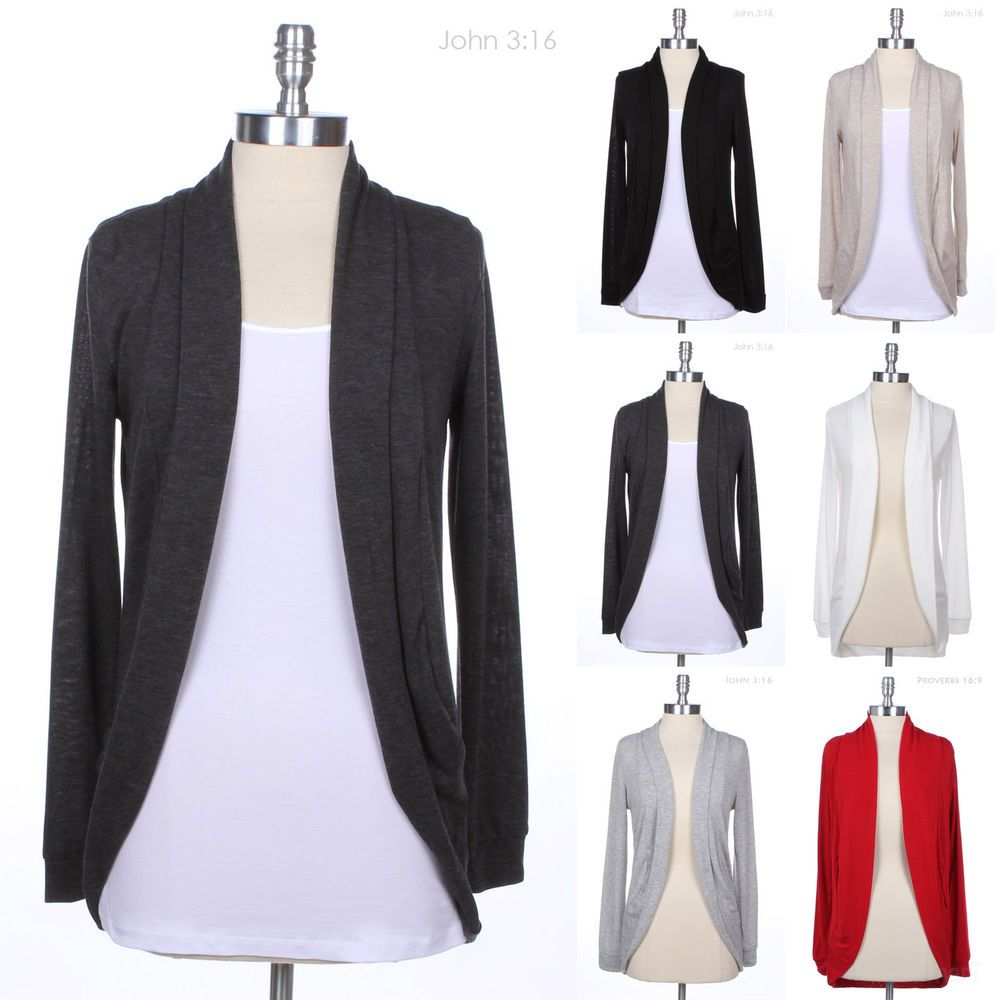 Hacci Long Sleeve Cocoon Shaped Open Cardigan Sweater Cute Shawl ...