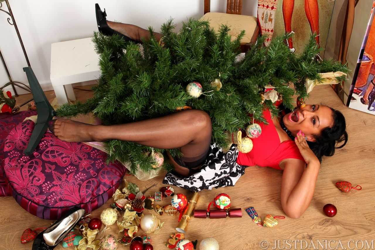 Danica with the tree decorate