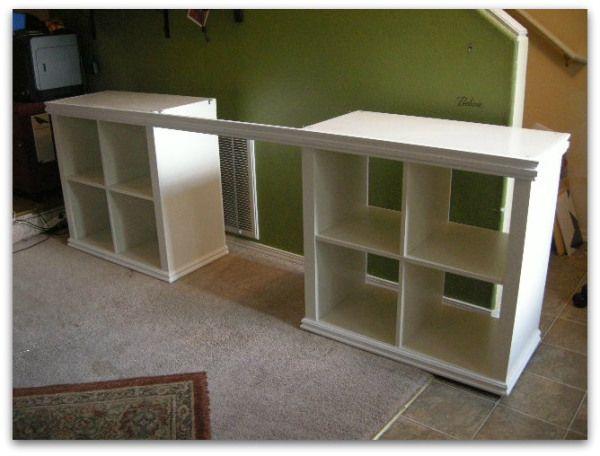 Expedit Or Kallax Desk Big Desk For A Small Space Ikea Kallax Desk Kallax Ikea Kallax Desk