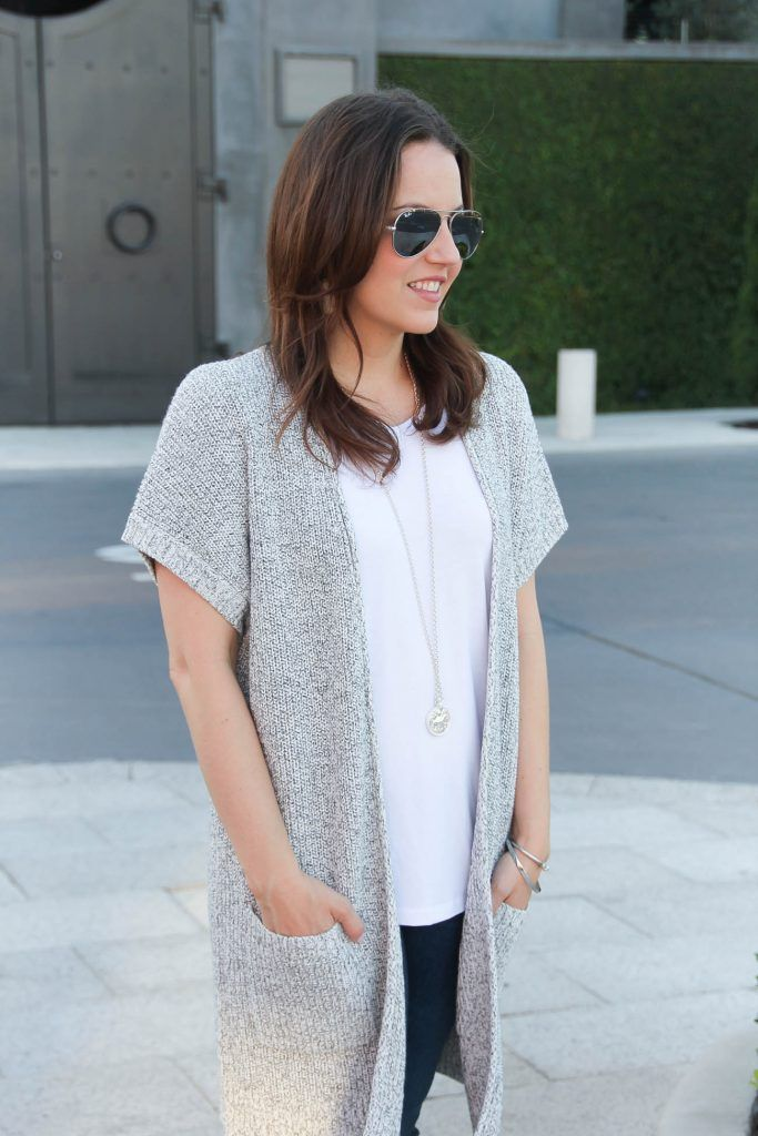 Gray Short Sleeve Cardigan | Gray shorts