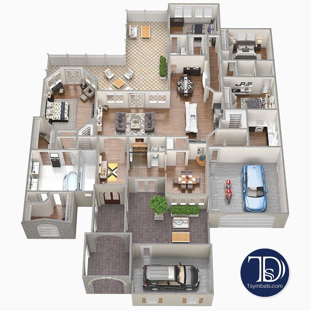 3D Floor Plans - Renderings & Visualizations