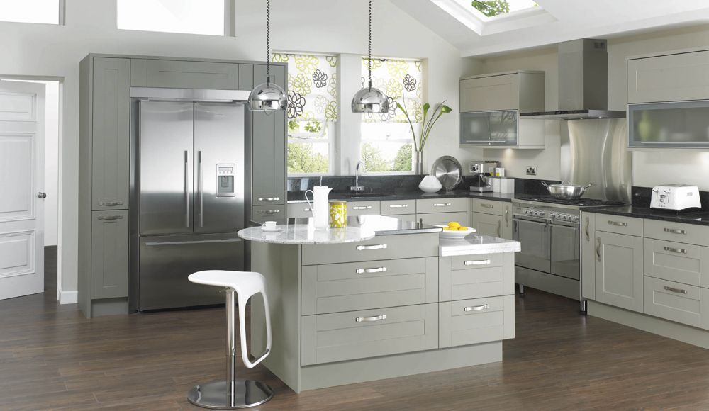 Mereway Kitchens Canterbury Olive and Pebble Canterbury