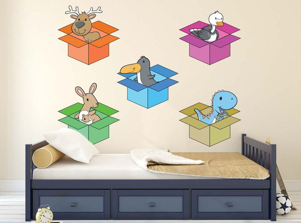 Animals In Box Wall Decal Children S Room Decor