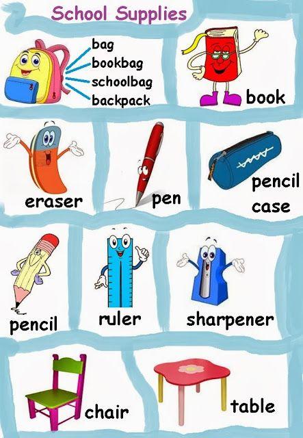 Útiles escolares en inglés - Imagui | Utiles escolares en Inglés ...