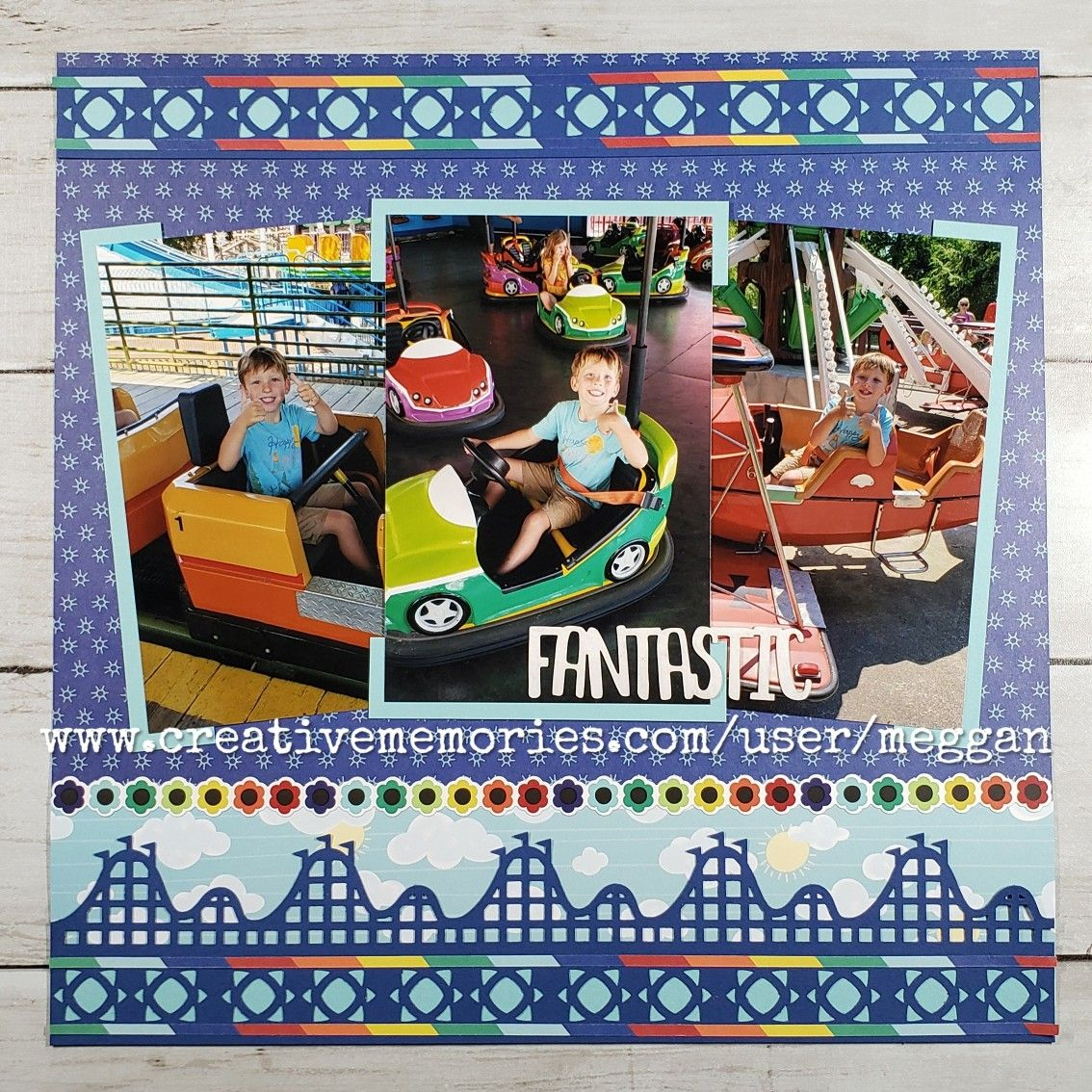 Creative Memories Punch Roller Coaster amusement park card /& scrapbooking