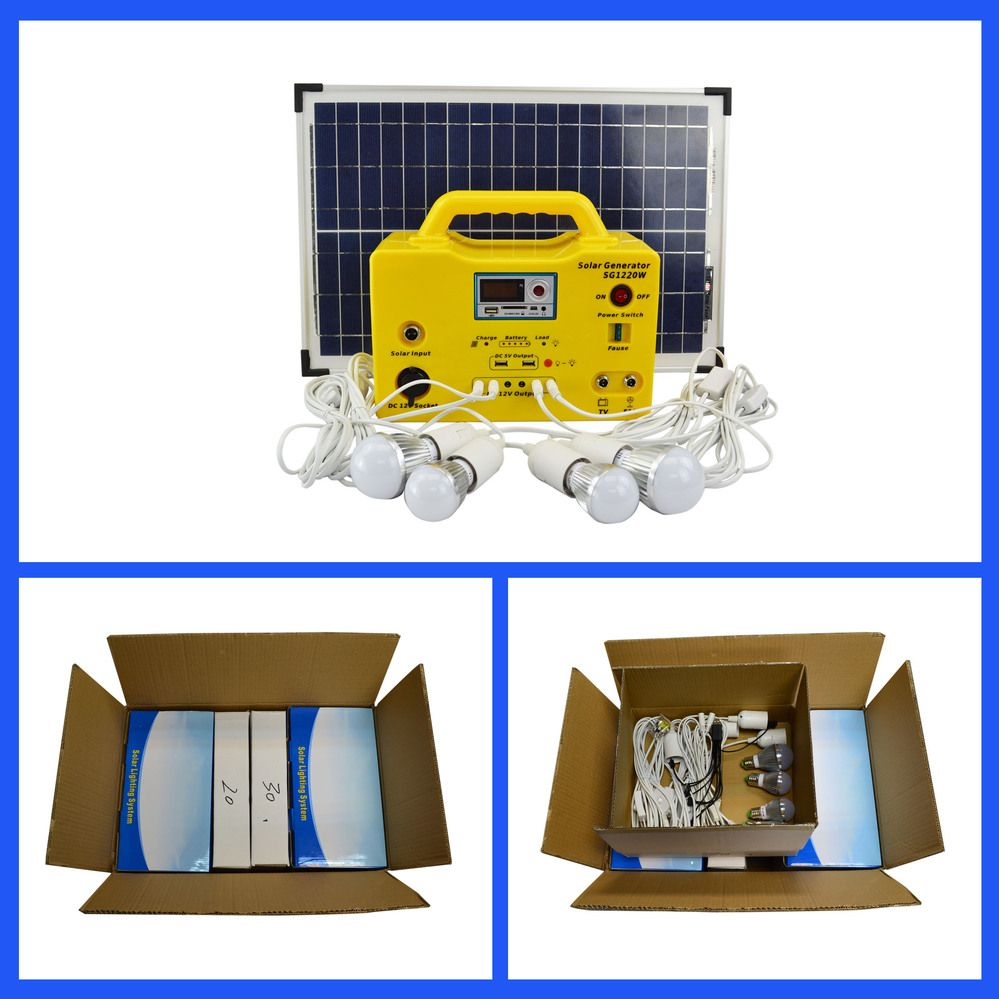 20W SOLAR HOME LIGHTING SYSTEM | 1220 - 20W SOLAR HOME LIGHTING ...