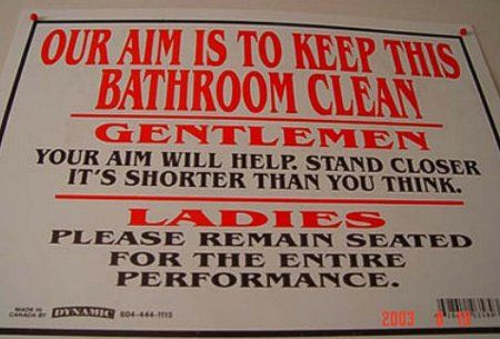 Bathroom Signs To Clean Up After Yourself and clean up after yourself. do you think people enjoy your mess
