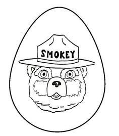 Smokey The Bear Coloring Pictures