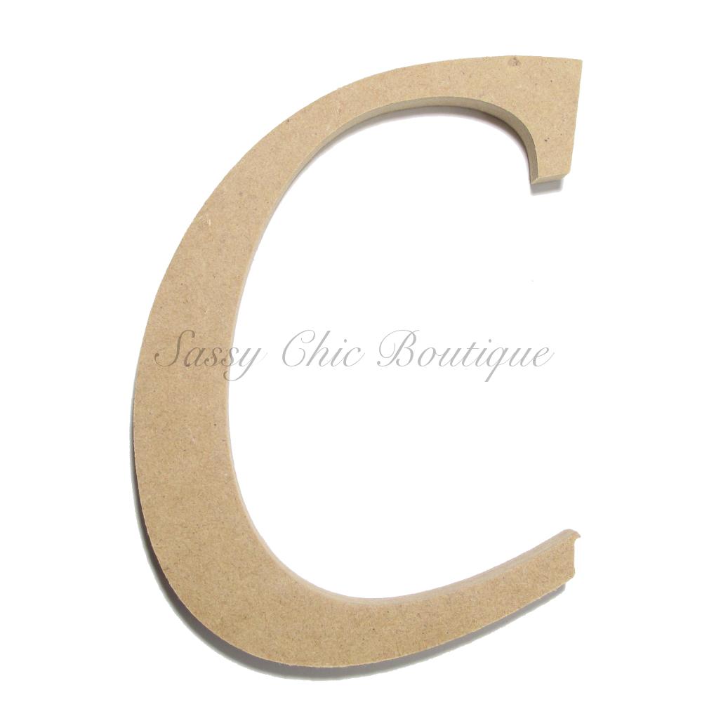 Unfinished Wooden Uppercase Letter C