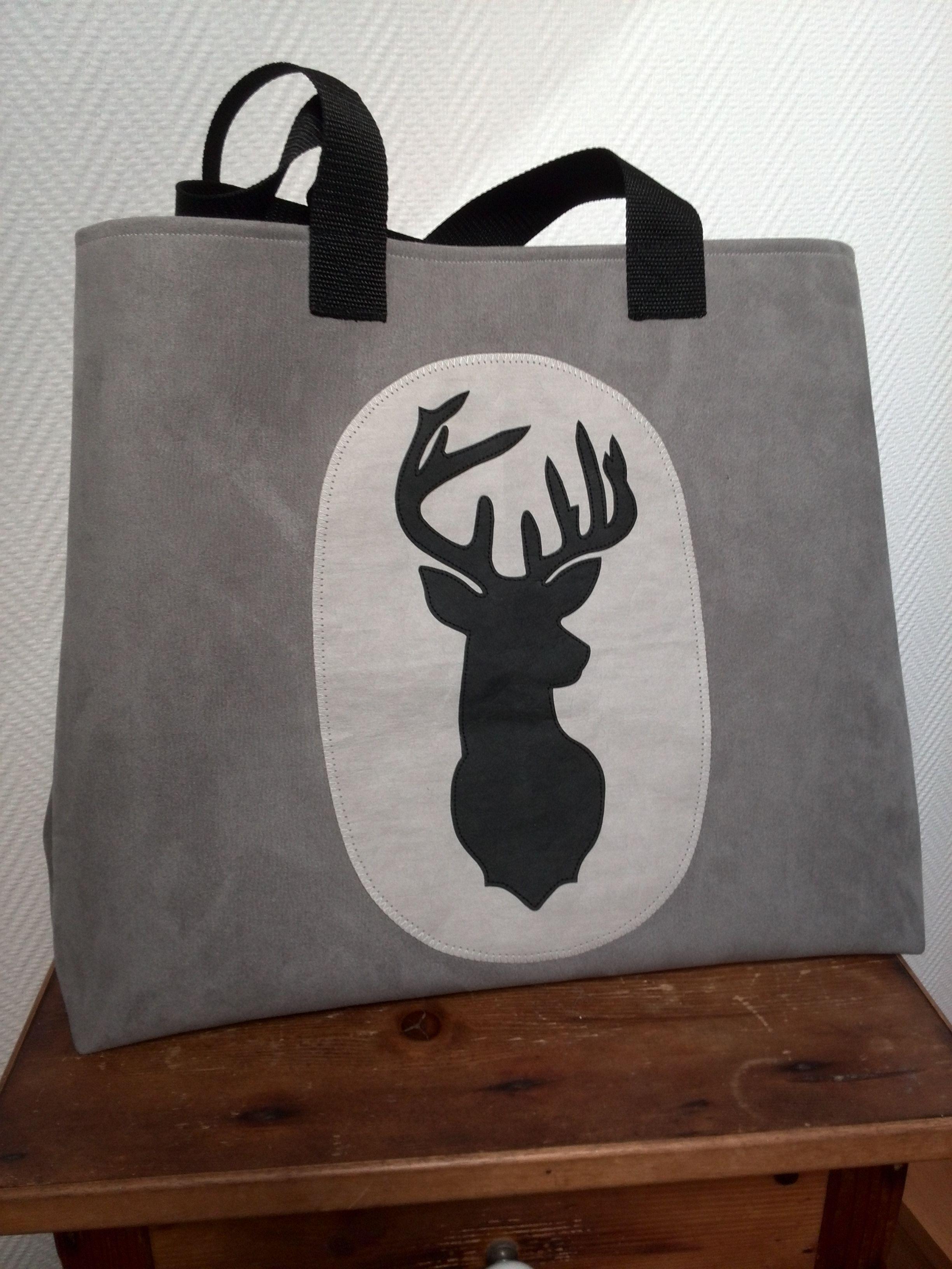 hirschtasche mit applikation aus snappap taschen ideen pinterest sewing cloth bags und. Black Bedroom Furniture Sets. Home Design Ideas