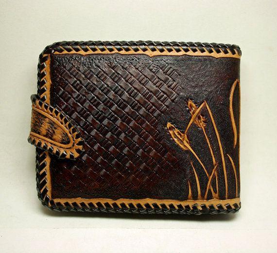 Portafoglio in pelle lavorata a mano portafoglio di PFLeatherGlass
