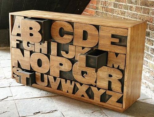 Handmade Sustainable Alphabet #Chest by Kent and London