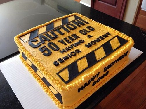 Caution 50th Birthday Cakes For Men