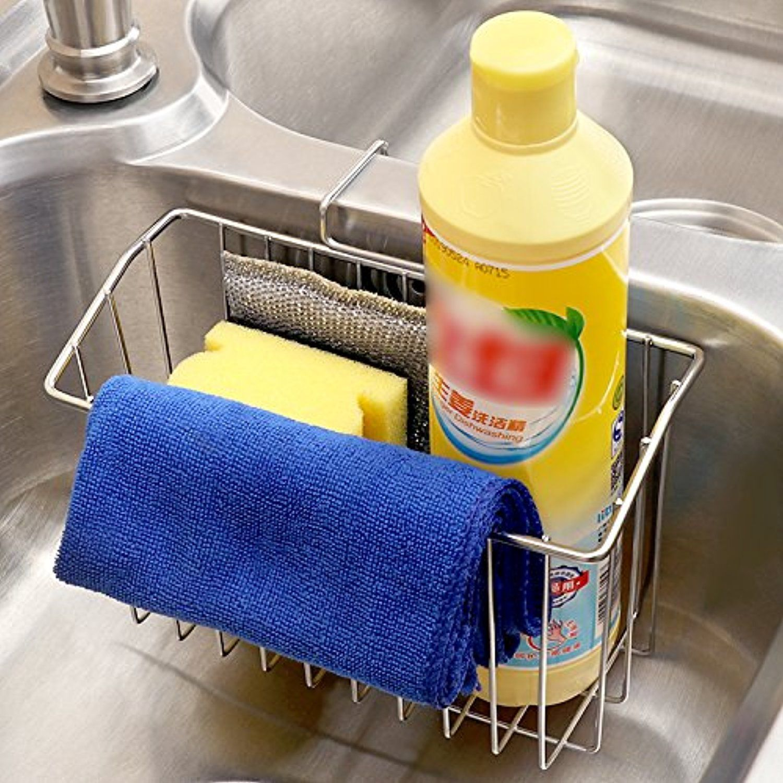 Best Kitchen Sponge | Kitchen Sponge Holder Vishm Stainless Steel Large Capacity Hanging