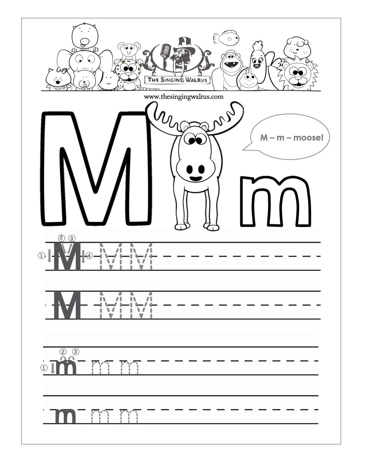 Writing Worksheets For Kindergarten In