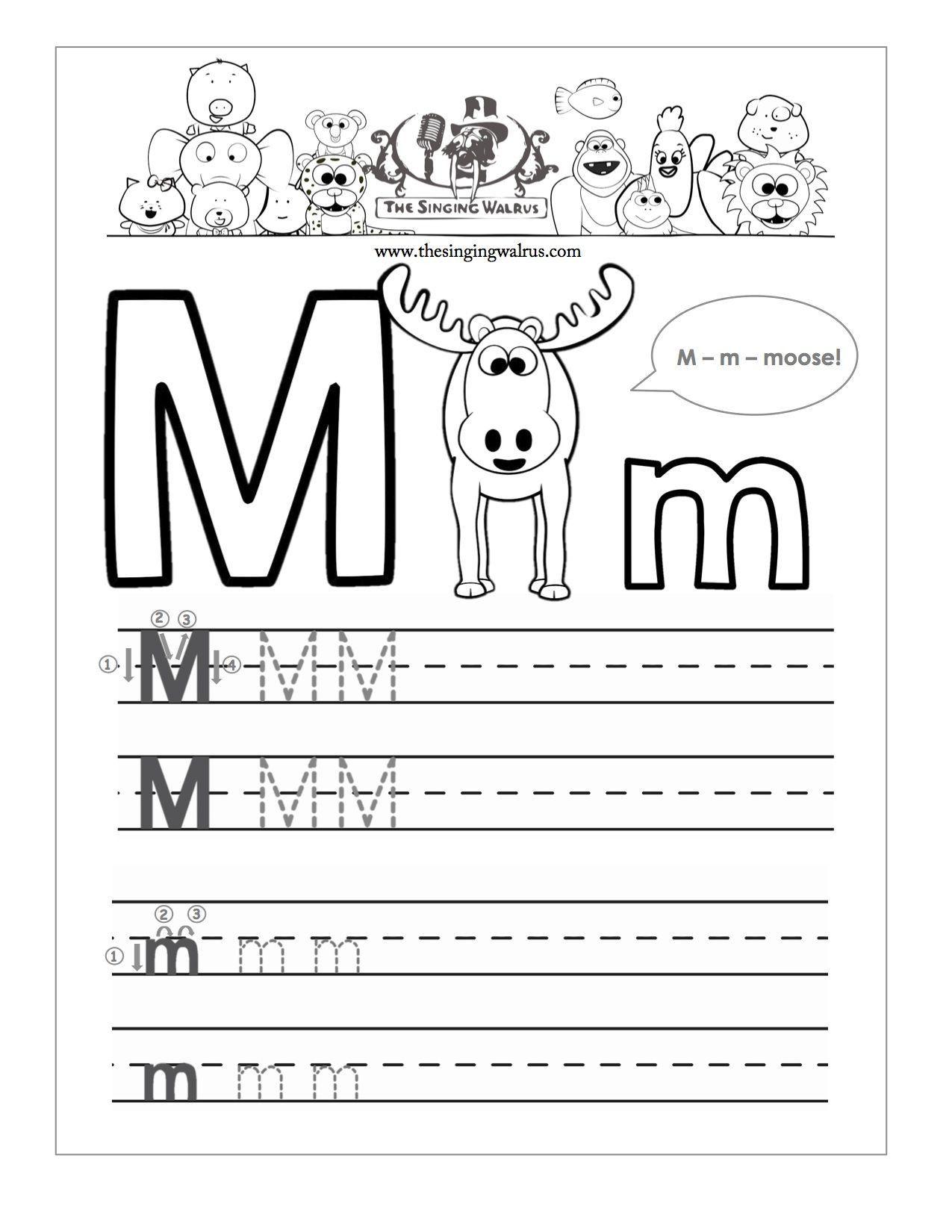 Writing Worksheets For Kindergarten In