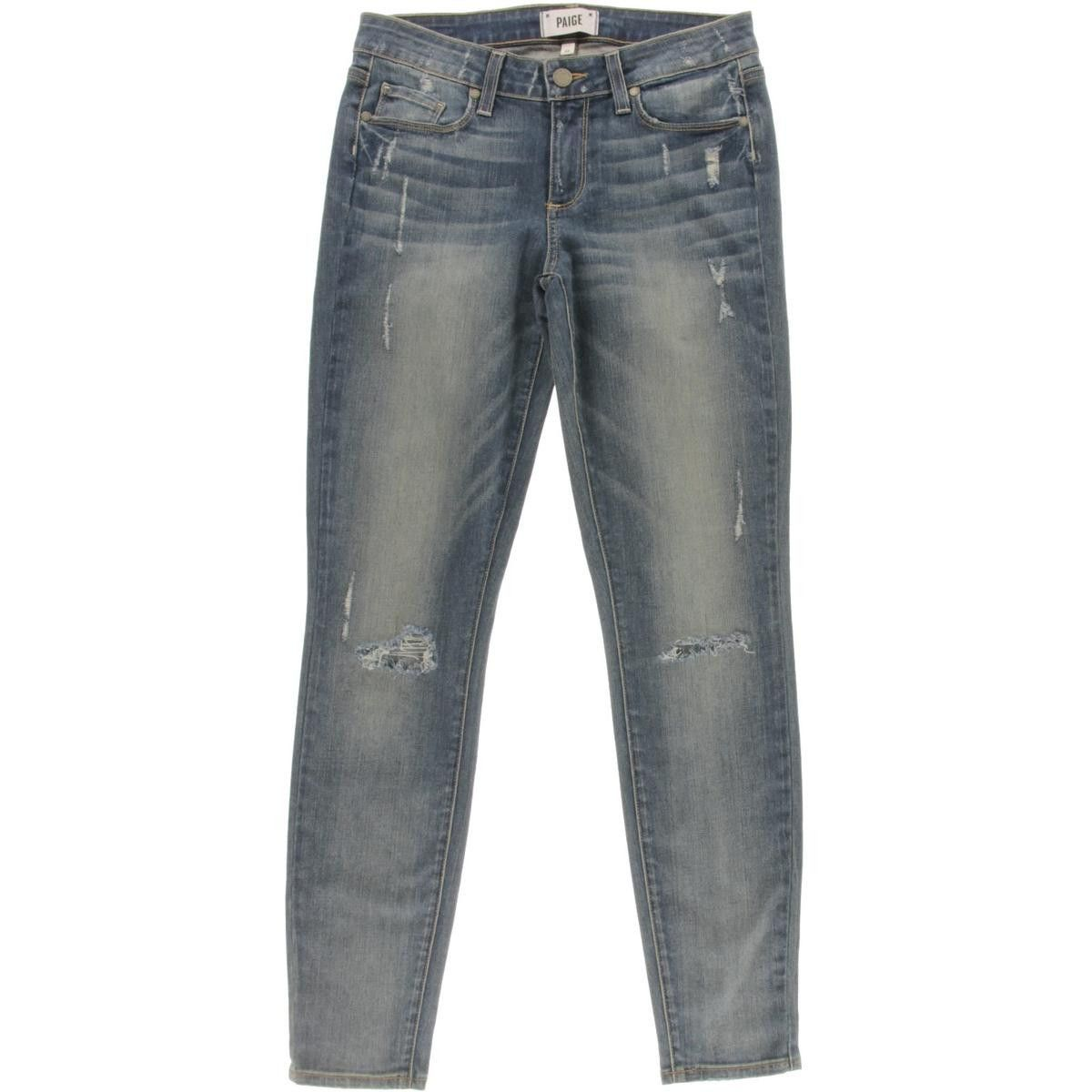 Paige Womens Ultra Skinny Destroyed Jeans