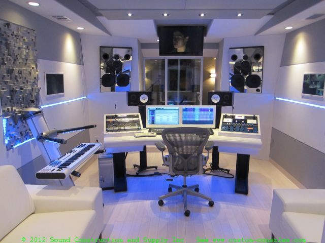 Custom Recording Studio Furniture - SCS | Pinterest | White rooms ...