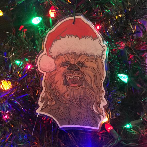 chewbacca christmas ornament by castlemcquade on etsy - Chewbacca Christmas Ornament