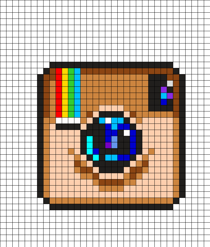 Instagram Logo Perler Bead Pattern Pixel Art Grid Pixel