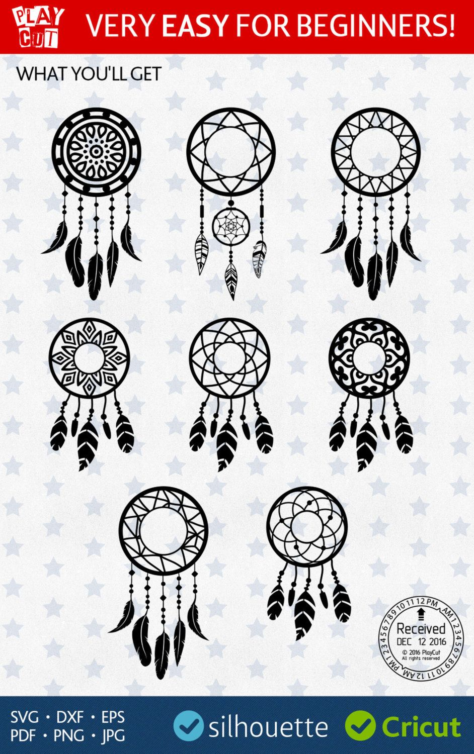 Dream Catcher Template | Dream Catcher Svg Dreamcatcher Svg Dreamcatcher Monogram Svg Initial