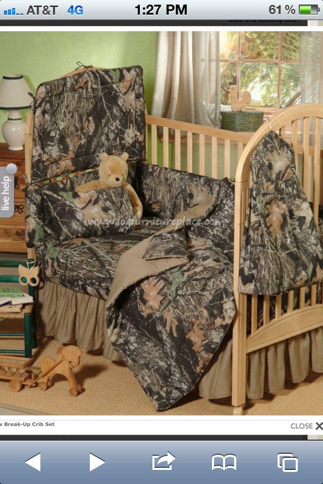 Camo Crib Bedding, Camo And Blue Baby Bedding