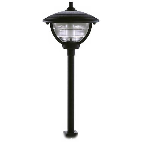 Palm Island Black Finish Post Mount Landscape Light Landscape Lighting Post Lights Contemporary Outdoor Lighting
