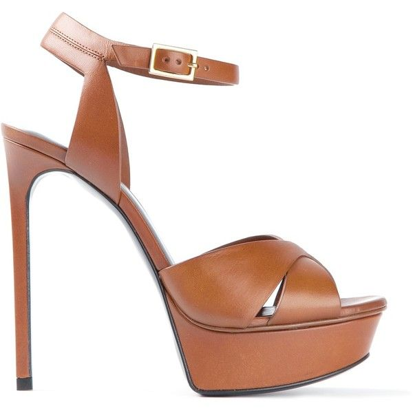 SAINT LAURENT platform sandals found on Polyvore