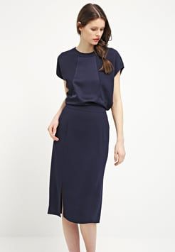72f37a7433 Whistles - KELLY - Summer dress - navy