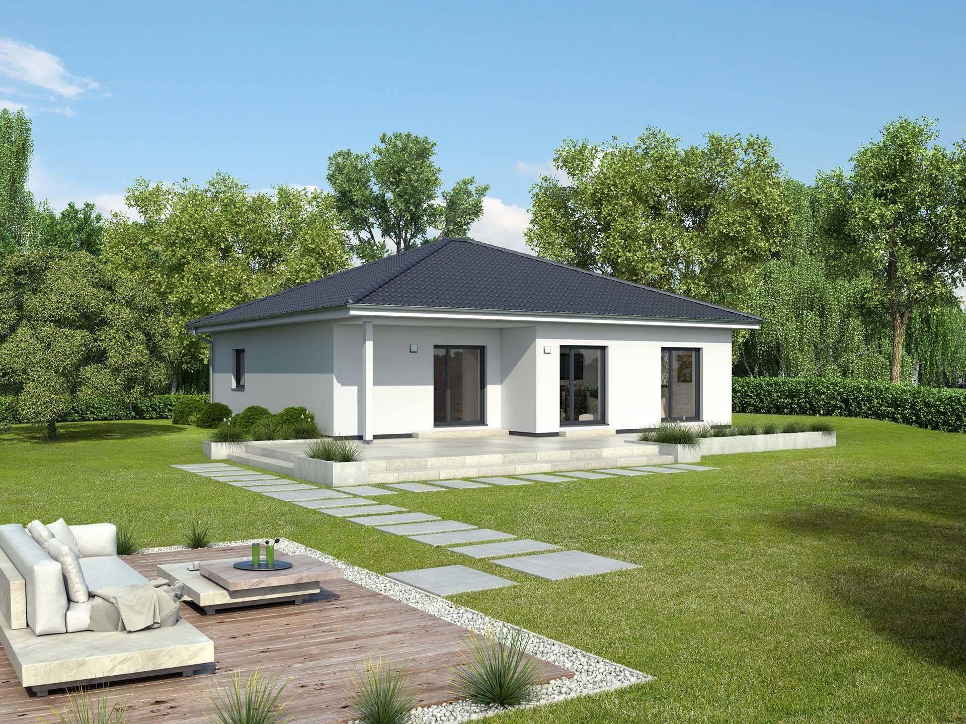 Bungalow bordeaux singlehaus von gussek haus for Minimalistisches haus grundriss