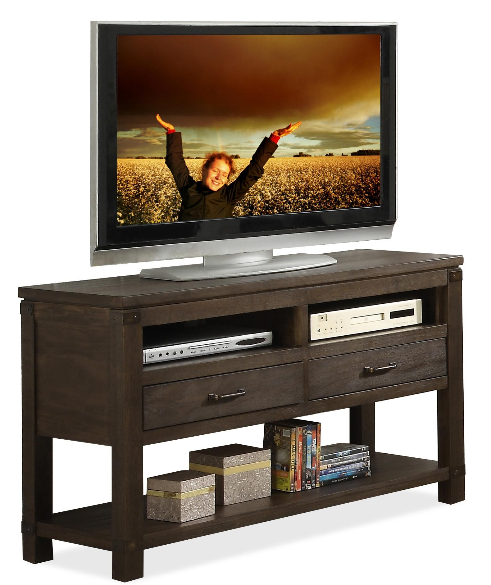 Promenade Console Table By Riverside Furniture At Darvin Furniture Living Room Styles Riverside Furniture Entertainment Furniture Entertainment Center