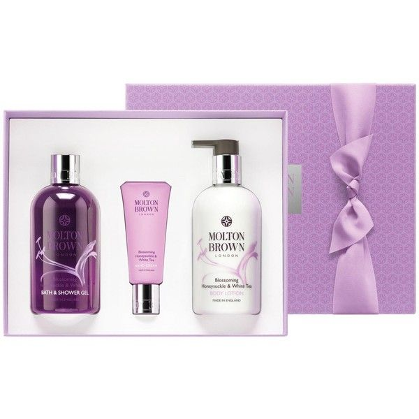 Molton Brown Body Indulgences Gift Set - Blossoming Honeysuckle &... (215 BRL) ❤ liked on Polyvore featuring beauty products, gift sets & kits and molton brown