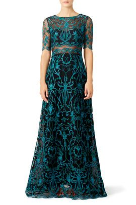 5d078859 Teal Elizabeth Gown by Marchesa Notte | My Style | Dresses, Marchesa ...