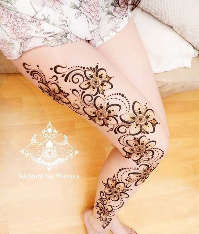 Make Your Henna Tattoo Last Longer Using Saniderm: I Did This Design Last Night On My Own Leg