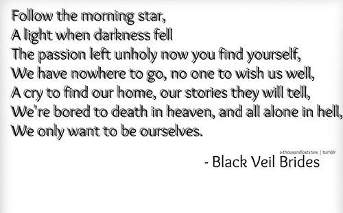Black Veil Brides lyrics | Tumblr