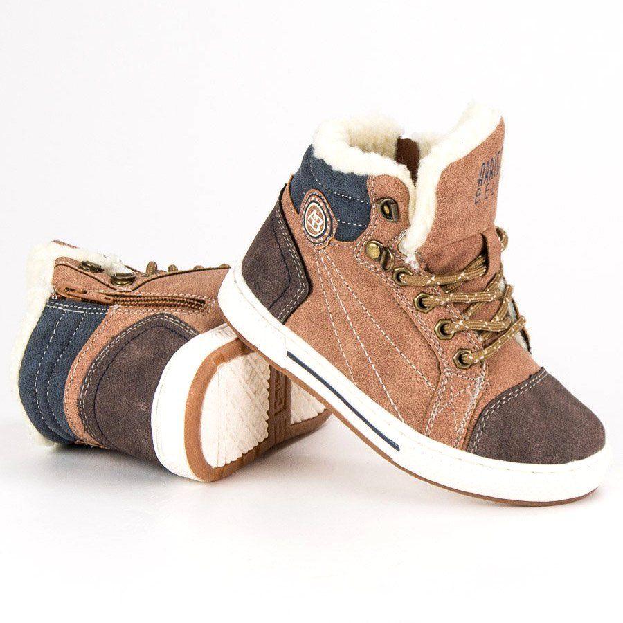 Kozaki Dla Dzieci Arrigobello Arrigo Bello Brazowe Cieple Buty Zimowe Shoes Sneakers Fashion