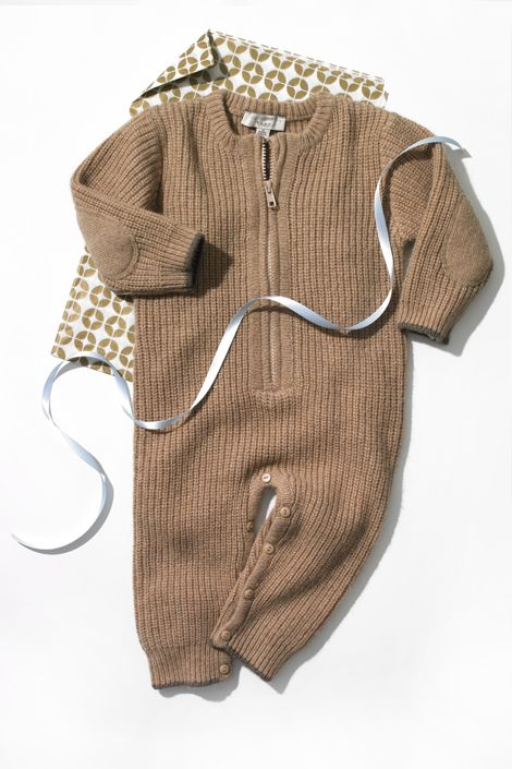 After having three kids, Stella McCartney knows a thing or two about making cute baby clothes. These fisherman's-rib onesies are warm, and thanks to both zippers and buttons, they're practical, too.    Stella McCartney Baby All in One, $87; shop now: stellamccartneykids.com