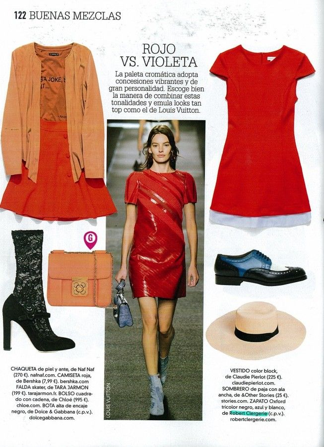 Glamour Spain - April 2015 Roeli style #robertclergerie #glamourspain #derby #roel