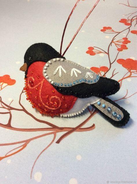 Super embroidery christmas gifts felt ornaments Ideas #feltbirds