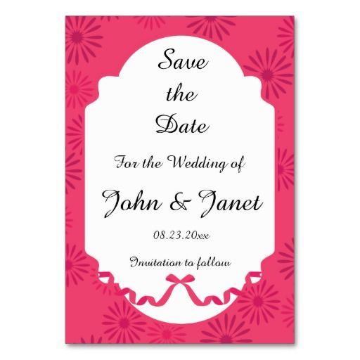 Save the Date- A Splash of Floral -Cayenne Table Cards