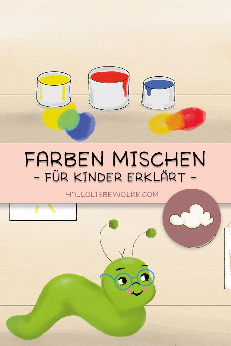 Farben mischen mit Mats Malwurm (Lerngeschichte & Printable